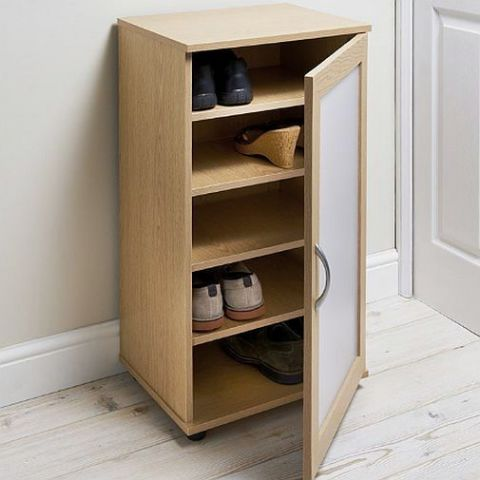 Oak Effect 5 Shelf Shoe Storage Unit